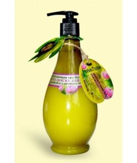 Вкусные секреты Фито-маска Укрепляющая при выпадении волос с оливковым и репейным маслом