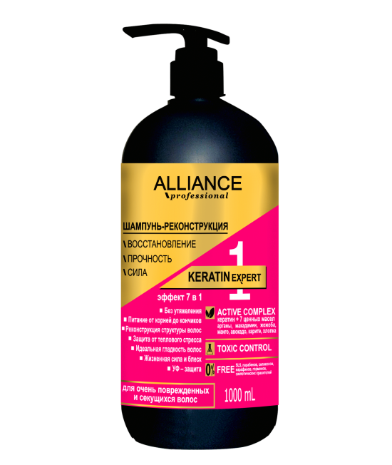 "ALLIANCE PROFESSIONAL Шампунь-реконструкция ""KERATIN EXPERT 7 в 1"", 1 л"