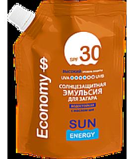 Sun Energy  Travel Дой-пак Солнцезащитная эмульсия для загара водостойкая  SPF30, 90мл