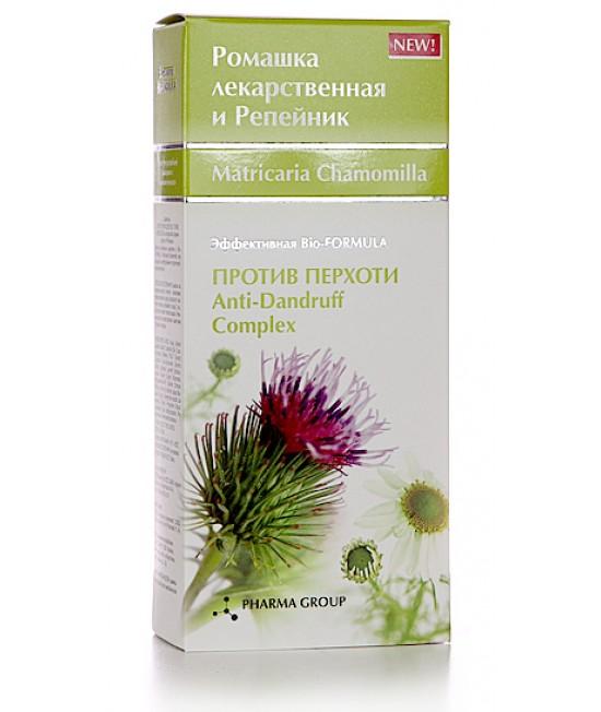 Pharm group Шампунь «Против перхоти для всех типов волос» с экстрактом Корня лопуха и Ромашки, 200