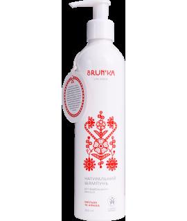 BRUN'KA Натуральний Шампунь 'Мальва та Арніка' для фарбованого типу волосся, 300мл