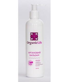 Organic Life Аргановый Бальзам для волос Фиалка для окрашенных волос, защита цвета 250мл