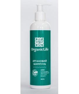 """Organic Life Шампунь аргановый  для сухих волос """"Интенсивное увлажнение"""", 250 мл"""