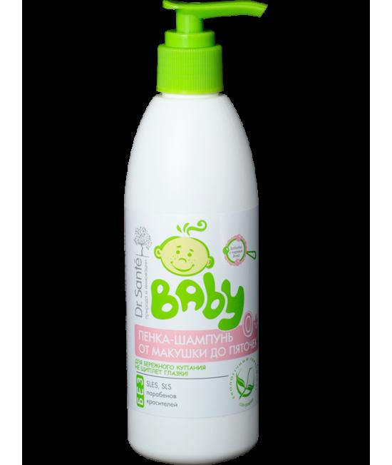 Dr. Sante Baby Пінка-шампунь від маківки до п`яточок 300 мл